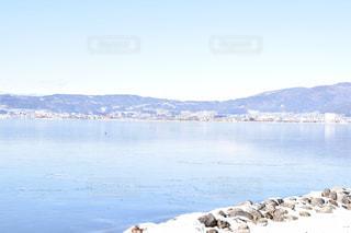 凍る湖の写真・画像素材[1767417]