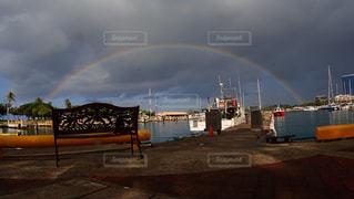 海の虹の写真・画像素材[1125662]