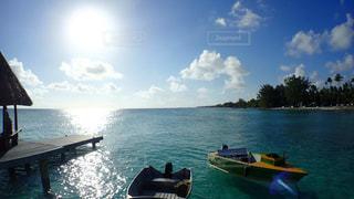 海 桟橋のボートの写真・画像素材[1125709]