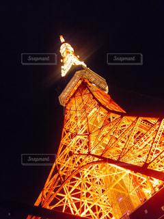 夜の東京タワーの写真・画像素材[1124606]