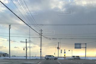見晴らしの良い道路の写真・画像素材[1124570]