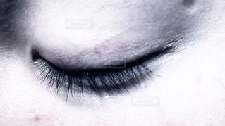 人の目のアップの写真・画像素材[1124571]