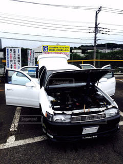 駐車場に駐車の写真・画像素材[1126734]