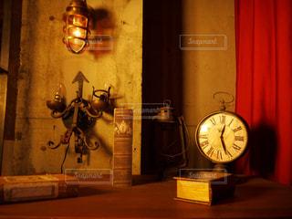 本と時計の写真・画像素材[1131004]