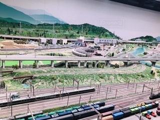 鉄道のジオラマの写真・画像素材[2783727]