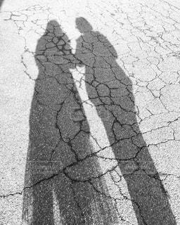 二人の人影の写真・画像素材[1126129]
