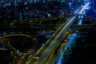 夜の街の景色の写真・画像素材[1127581]
