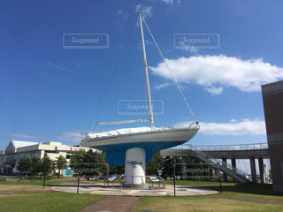 石原裕次郎記念館の船のオブジェ 北海道小樽市の写真・画像素材[1129739]