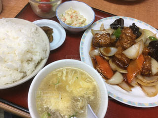 酢豚定食の写真・画像素材[1129907]