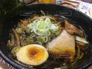 北海道醤油ラーメン 太麺の写真・画像素材[1129909]