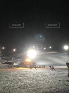 スキー場スノークルーズオーンズのナイター営業 北海道小樽市銭函の写真・画像素材[1129945]
