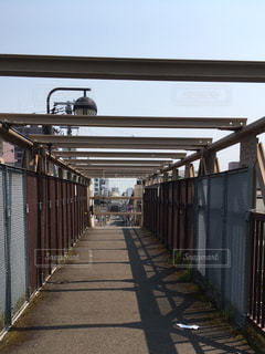 歩道橋、高架橋 北海道小樽市の写真・画像素材[1129948]
