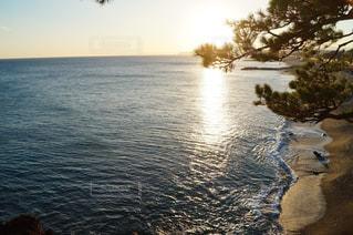 水平線に続く海岸の写真・画像素材[1134910]