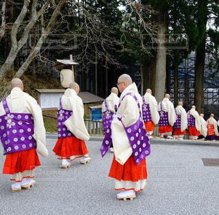僧侶の行列の写真・画像素材[1130471]