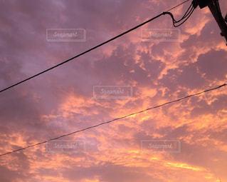 赤い光に向かう雲 - No.1131228