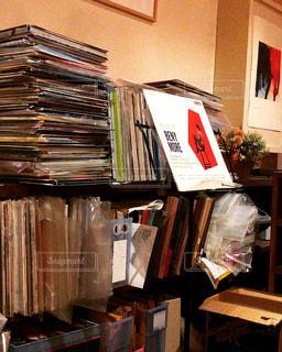 棚はレコードでいっぱいの写真・画像素材[1248562]
