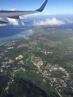 飛行機からの景色の写真・画像素材[1131467]