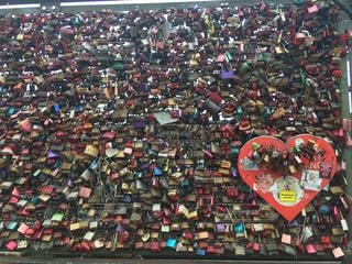愛の鍵の写真・画像素材[1133119]