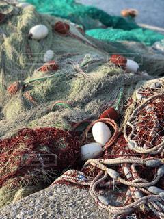 漁に使う網の写真・画像素材[1133985]