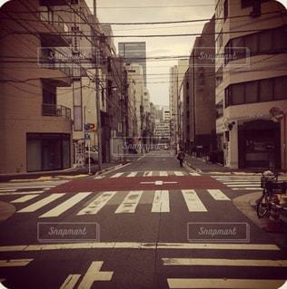 街の通りのビューの写真・画像素材[1134480]
