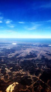 飛行機から見る地球の写真・画像素材[1138126]