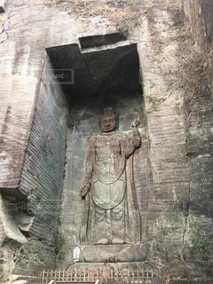石造りの仏像の写真・画像素材[1138004]
