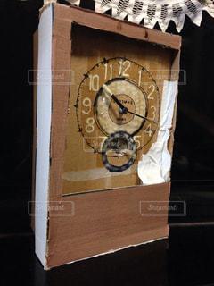 ダンボール掛時計の写真・画像素材[1136507]