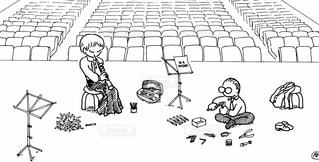 オーボエ奏者とリード製作者の写真・画像素材[1137773]