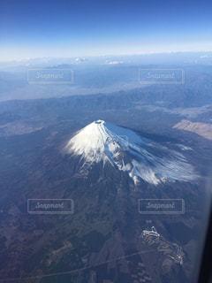 飛行機から見た富士山の写真・画像素材[1136597]