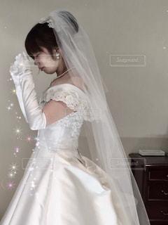 ウエディングドレス合わせの日の写真・画像素材[1141851]