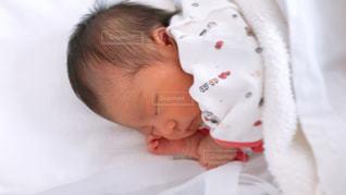 赤ん坊を持っている人の写真・画像素材[1137101]