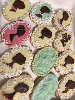 カメオのアイシングクッキーの写真・画像素材[1137689]
