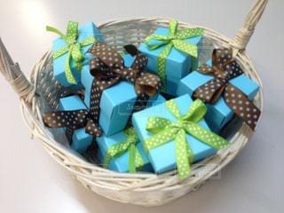 小さなプレゼントボックスの写真・画像素材[1140504]