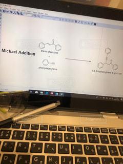 マイケル付加反応の反応式の写真・画像素材[1666499]