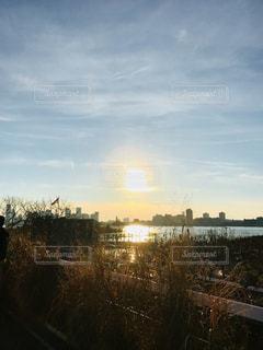 ニューヨーク、ハイラインから見た夕日の写真・画像素材[1148661]