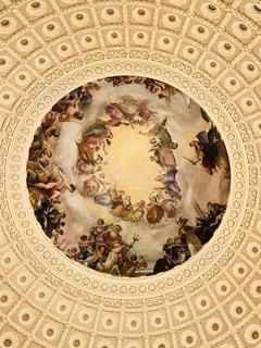 アメリカ合衆国国会議事堂内の天井、ドーム内の写真の写真・画像素材[1155954]
