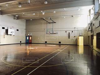 学校の体育館の写真・画像素材[1161166]