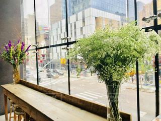 マンハッタンのカフェの花 1の写真・画像素材[1229597]