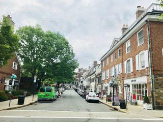 プリンストンの道路とブティックの写真・画像素材[1241136]