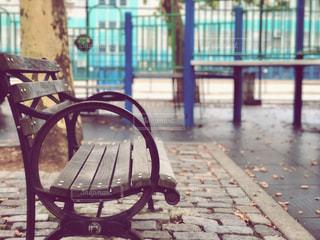 公園のベンチの写真・画像素材[1529898]