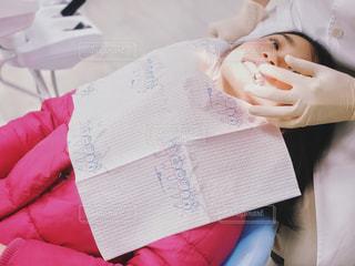 歯科検診中の写真・画像素材[1842779]