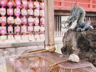 清水観音堂の手水舎の写真・画像素材[1881333]