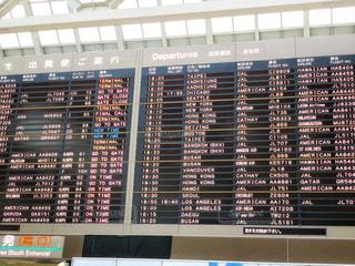 成田空港の出発便ご案内の写真・画像素材[2254371]