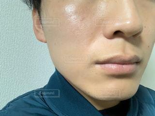 メンズ肌アップの写真・画像素材[3078388]