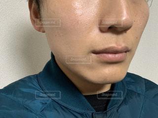 メンズ肌アップの写真・画像素材[3078393]