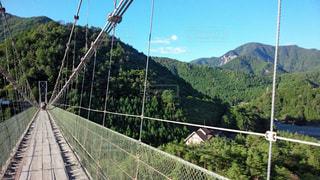 背景山の吊り橋の写真・画像素材[1140390]