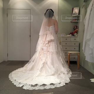 ウェディングドレス試着室の写真・画像素材[1146869]