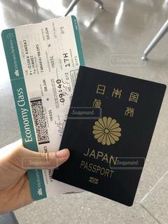 パスポートとチケットの写真・画像素材[1653841]