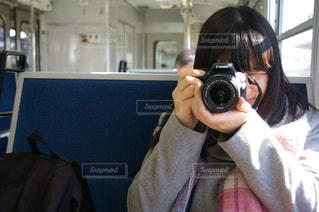 カメラ女子の写真・画像素材[1142144]
