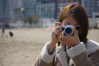 カメラ女子の写真・画像素材[1142167]